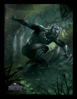 Black Panther - Forest Chase indrammet plakat