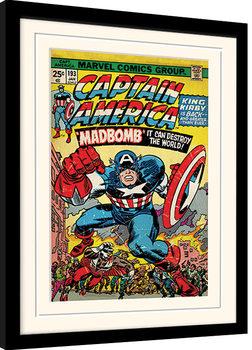 Captain America - Madbomb indrammet plakat