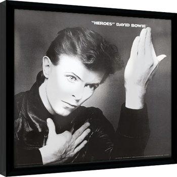 David Bowie - Heroes indrammet plakat