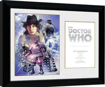 Doctor Who - 4th Doctor Tom Baker indrammet plakat