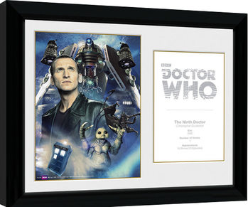 Doctor Who - 9th Doctor C. Ecclestone indrammet plakat