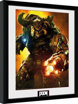 Doom - Cyber Demon indrammet plakat