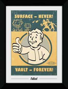 Fallout - Vault Forever indrammet plakat