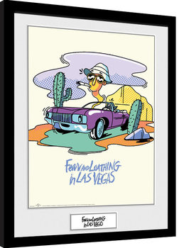 Fear And Loathing In Las Vegas - Illustration indrammet plakat