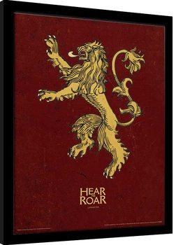 Game Of Thrones - Lannister indrammet plakat