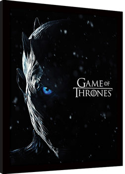 Game of Thrones - The Night King indrammet plakat