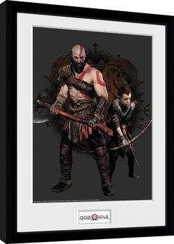 God Of War - Kratos and Atreus indrammet plakat