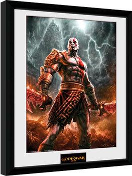 God of War - Kratos Lightening indrammet plakat