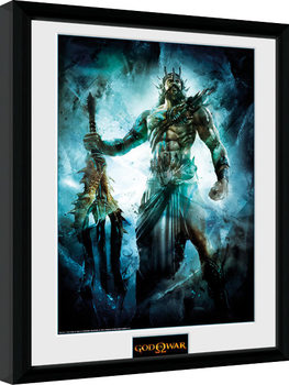 God of War - Poseidon indrammet plakat