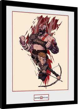 God Of War - Toon indrammet plakat