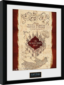 Harry Potter - Marauder's Map indrammet plakat