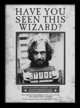 Harry Potter - Sirius Wanted indrammet plakat
