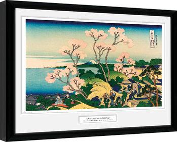 Hokusai - Goten Yama Hill indrammet plakat