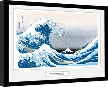 Hokusai - Great Wave indrammet plakat