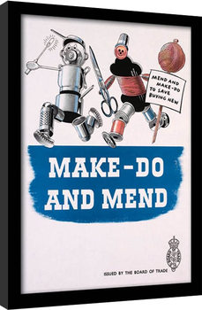 IWM - Make Do & Mend indrammet plakat