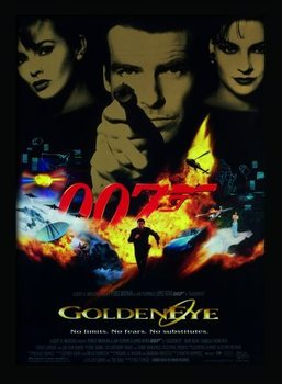 JAMES BOND 007 - Goldeneye indrammet plakat