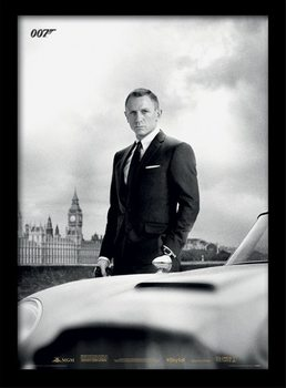 James Bond (Skyfall) - Bond & DB5 indrammet plakat