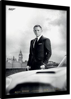 James Bond (Skyfall) - Bond & DB5 indrammet plakat