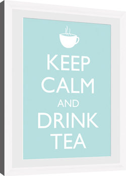 Keep Calm - Tea (White) indrammet plakat