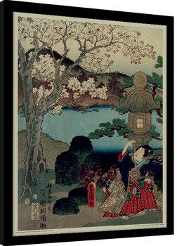 Kunisada - History of the Prince Genji, Blossom indrammet plakat