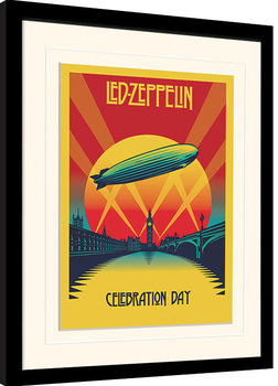 Led Zeppelin - Celebration Day indrammet plakat