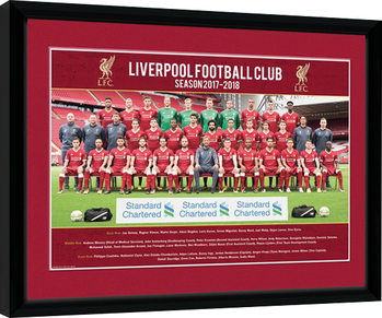 Liverpool - Team Photo 17/18 indrammet plakat