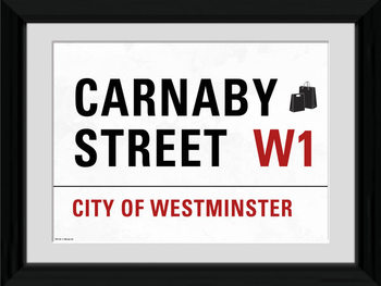 London - Carnaby Street indrammet plakat
