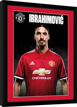 Manchester United - Zlatan Stand 17/18 indrammet plakat