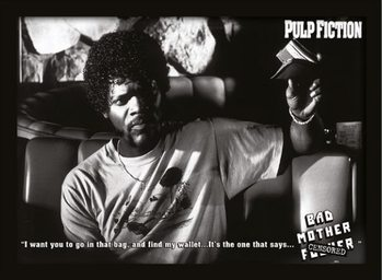 PULP FICTION - bad mother fuck indrammet plakat