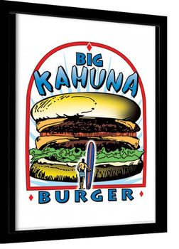 PULP FICTION - big kahuna burger indrammet plakat