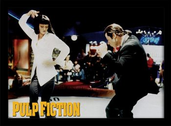 PULP FICTION - dance indrammet plakat