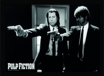 PULP FICTION - guns indrammet plakat