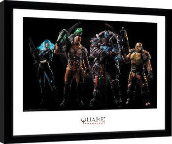 Quake Champions - Group indrammet plakat