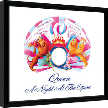 Queen - A Night At The Opera indrammet plakat