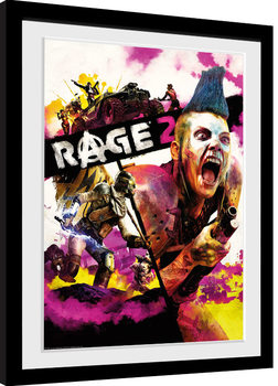 Rage 2 - Key Art indrammet plakat