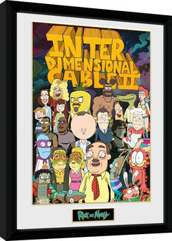 Rick and Morty - Interdimentional Rick indrammet plakat