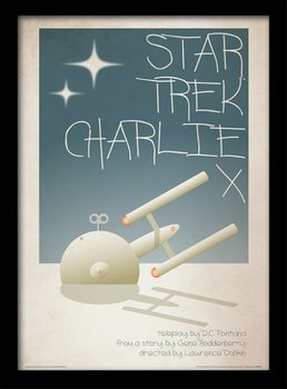 Star Trek - Charlie X indrammet plakat