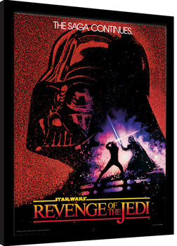 Star Wars - Revenge of the Jedi indrammet plakat