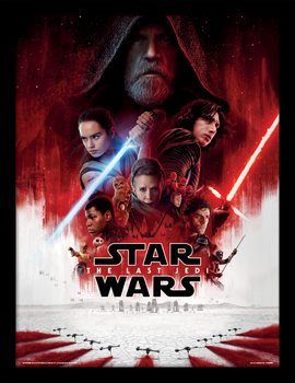 Star Wars The Last Jedi - One Sheet indrammet plakat