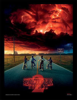 Stranger Things - Mind Flayer indrammet plakat