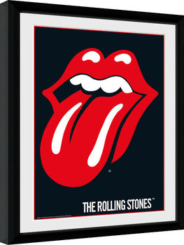 The Rolling Stones - Lips indrammet plakat