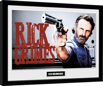 The Walking Dead - Rick Grimes indrammet plakat