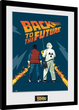 Tilbage til fremtiden del - Doc and Marty indrammet plakat