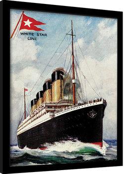Titanic indrammet plakat