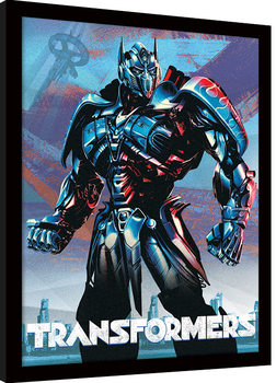 Transformers The Last Knight - Optimus indrammet plakat