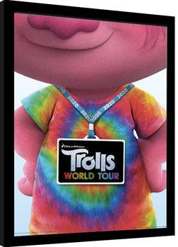 Trolls på verdensturné - Backstage Pass indrammet plakat