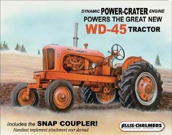 Metallschild ALLIS CHALMERS - wd45