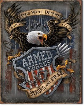 Metallschild Armed Forces - since 1775