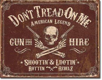 Metallschild DTOM - Gun for Hire