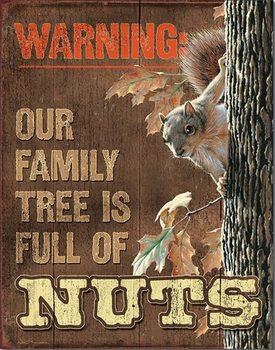 Metallschild Family Tree - Nuts